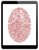 Business Black Tablet With Fingerprint Access Stock Photography