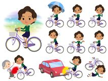 Business black women_city bicycle Royalty Free Stock Photo