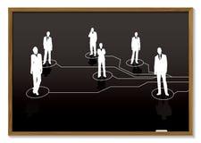 Business blackboard Stock Image