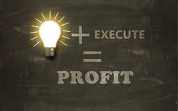 Business on Blackboard Stock Photos