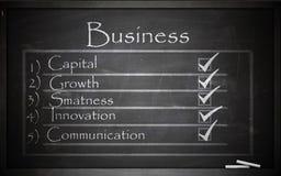 Business on blackboard Stock Photo