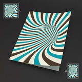 A4 Business Blank. Abstract Striped Background. Optical Art. 3d Vector Illustration Stock Image