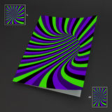 A4 Business Blank. Abstract Striped Background. Optical Art. 3d Vector Illustration vector illustration