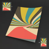 A4 Business Blank. Abstract Striped Background. Optical Art. 3d Vector Illustration royalty free illustration