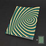 A4 Business Blank. Abstract Striped Background. Optical Art. 3d Vector Illustration. Can Be Used For Advertising, Marketing And Presentation Vector Illustration