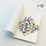 A4 Business Blank. Abstract Vector Illustration Royalty Free Stock Photography