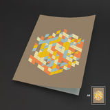 A4 Business Blank. Abstract Vector Illustration. Royalty Free Stock Photo