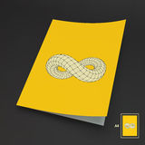 A4 Business Blank. Infinity Symbol Stock Images