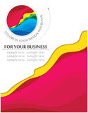 Business blank with logo design. Business blank with same colorful logo design Stock Image