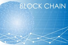 Business block chain illustration. Stock Images