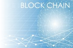 Business block chain illustration. Royalty Free Stock Image