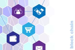 Business block chain illustration. Royalty Free Stock Photography