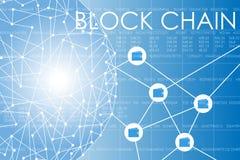Business block chain illustration. Royalty Free Stock Photos