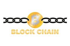 Business block chain logo illustration. Stock Images
