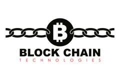 Business block chain logo illustration. Stock Image