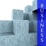 Business Blocks Design Means Building Activity And Construction Stock Photography