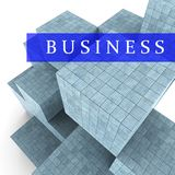 Business Blocks Design Represents Building Activity And Commercial Royalty Free Stock Photography