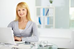Business blonde Stock Image