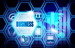 Business blue background model concept. Business blue background concept model Royalty Free Stock Image