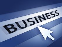 Business blue concept Royalty Free Stock Photography