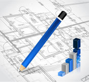Business blueprints illustration design Stock Photography