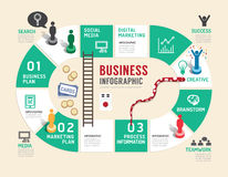 Business board game concept infographic step to successful. stock illustration