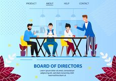 Business Board Meeting of Directors in Office. stock illustration
