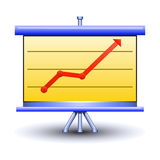 Business board with pictured diagramm Stock Images