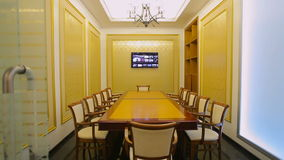 Business boardroom without people stock footage