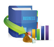 Business book and graph illustration design Royalty Free Stock Photos