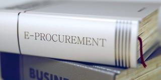Business - Book Title. E-procurement. 3D. Stock Photos