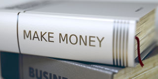 Business - Book Title. Make Money. 3D. Stock Images
