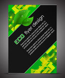 Business A4 booklet cover with ecological pattern Royalty Free Stock Photo