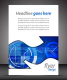 Business A4 booklet cover with technological pattern Royalty Free Stock Photo