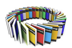 Business Books. Stack of Business Books on a white background Royalty Free Stock Photography