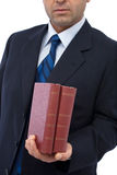 Business books royalty free stock photo