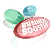 Business Booster Vitamins Increase Sales Success Stock Image