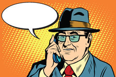 Business boss Director says on the phone Royalty Free Stock Images