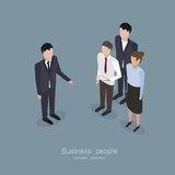 Business boss man. Meeting people worker in isometric style vector illustration Royalty Free Stock Image