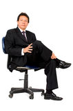 Business Boss sitting down Royalty Free Stock Photos