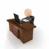 Business. Boss worker sitting chill behind work desk Stock Photography