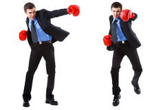 Business boxing isolated on white Stock Photography