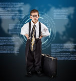 Business boy Royalty Free Stock Photo