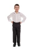 Business boy on white Royalty Free Stock Photo