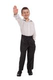 Business boy on white Stock Photography