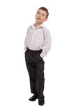 Business boy on white Royalty Free Stock Photography