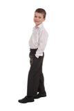 Business boy on white Stock Photos