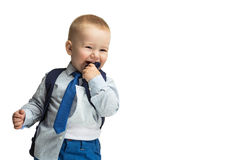 Business boy in tie Stock Image