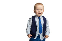 Business boy in tie Stock Photos