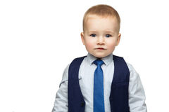 Business boy in tie Stock Images